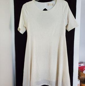 Altar'd State/Cream Keyhole Mini Dress